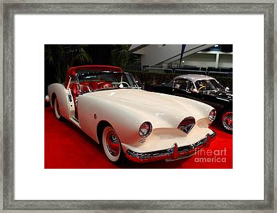 1954 Kaiser Darrin Roadster . 7d9180 Framed Print by Wingsdomain Art and Photography