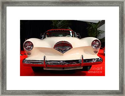 1954 Kaiser Darrin Roadster . 7d9182 Framed Print by Wingsdomain Art and Photography