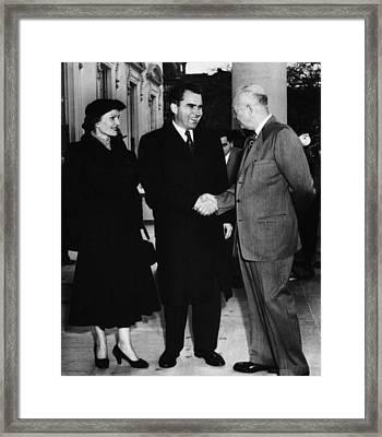 1954 Us Presidency.  Us President Framed Print by Everett