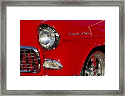 1955 Chevrolet 210 Headlight Framed Print by Jill Reger