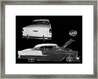 1955 Chevy Bel Air 2 Door Hard Top Framed Print by Tim Mulina