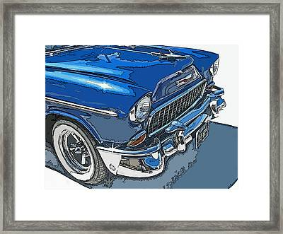 1955 Chevy Bel Air Front Study Framed Print