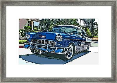 1955 Chevy Bel Air Framed Print by Samuel Sheats