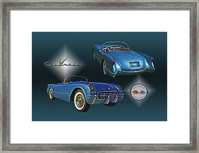 1955 Corvette - 68 Of 700 Built Framed Print by Mike  Capone