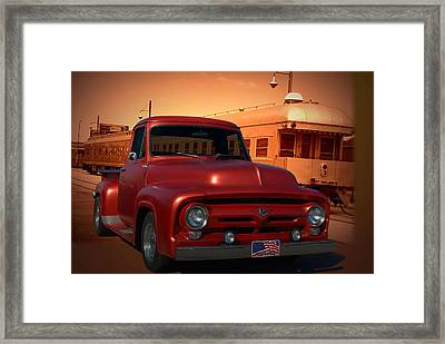 1955 Ford F100 Pickup With 56' Grill Framed Print by Tim McCullough