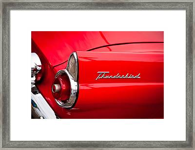 1955 Ford Thunderbird Framed Print by David Patterson