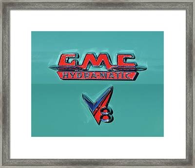 1955 Gmc Suburban Carrier Pickup Truck Emblem Framed Print by Jill Reger