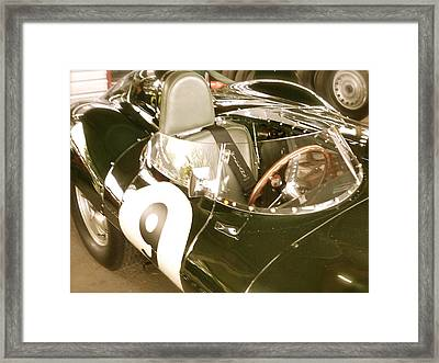 Framed Print featuring the photograph 1955 Jaguar D Type by John Colley
