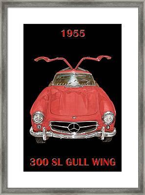 1955 Mercedes Benz 300sl Gull Wing  Framed Print by Jack Pumphrey