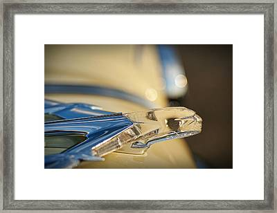 1955 Pontiac Star Chief Hood Ornament  Framed Print by Gordon Dean II