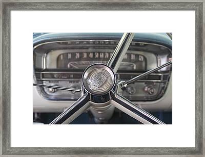 1956 Cadillac Steering Wheel Framed Print