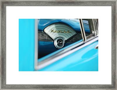 1956 Chevrolet Belair Nomad Dashboard Clock Framed Print by Jill Reger