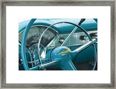 1956 Chevrolet Belair Nomad Steering Wheel Framed Print by Jill Reger