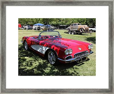 1956 Chevrolet Corvette . 5d16291 Framed Print by Wingsdomain Art and Photography