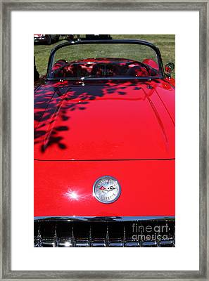 1956 Chevrolet Corvette . 5d16292 Framed Print by Wingsdomain Art and Photography