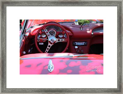 1956 Chevrolet Corvette Steering Wheel And Dashboard . 5d16293 Framed Print by Wingsdomain Art and Photography
