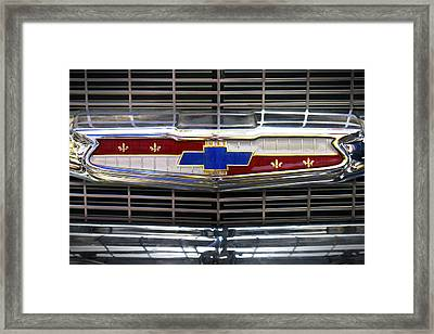 1956 Chevrolet Grill Emblem Framed Print by Mike McGlothlen