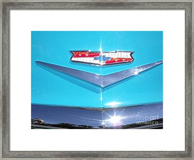 1956 Chevy Bel Air Convertible Framed Print by Kerry Browne