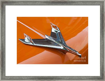 1956 Chevy Bel Air Hood Ornament I Framed Print by Clarence Holmes