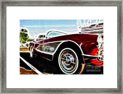 1956  Corvette Framed Print by Paul Ward