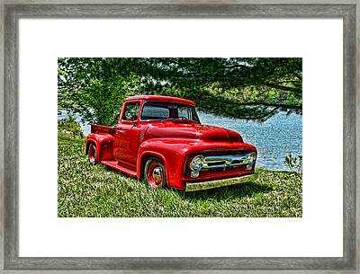 1956 Ford F100 Pickup Truck Framed Print by Tim McCullough