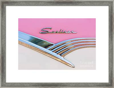1956 Ford Fairlane Sunliner Framed Print by Clarence Holmes