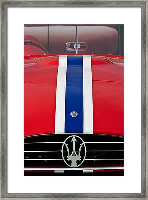 1956 Maserati 350 S Framed Print by Jill Reger