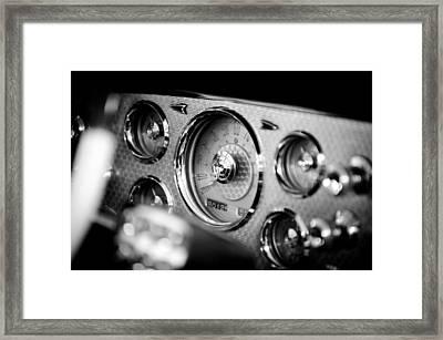 1956 Packard Caribbean Dashboard Framed Print by Sebastian Musial