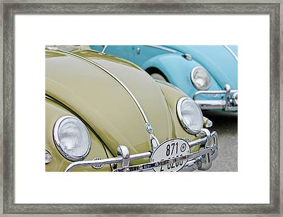 1956 Volkswagen Vw Bug Framed Print by Jill Reger