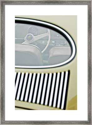 1956 Volkswagen Vw Bug Steering Wheel 4 Framed Print by Jill Reger