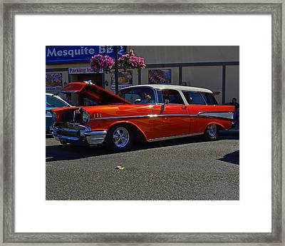 Framed Print featuring the photograph 1957 Belair Wagon by Tikvah's Hope