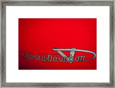 1957 Harley Davidson Tele Glide Framed Print by David Patterson