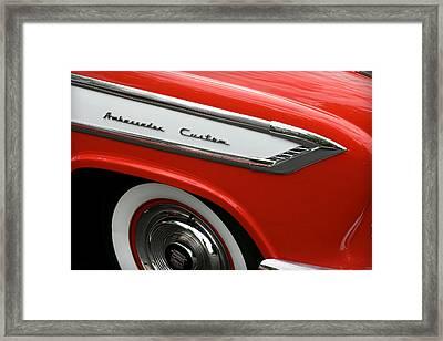 1957 Nash Ambassador Custom Framed Print by Gordon Dean II