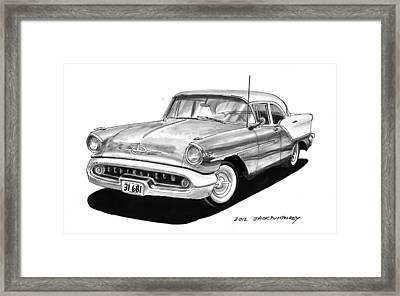 1957 Oldsmobile Super 88 Framed Print by Jack Pumphrey