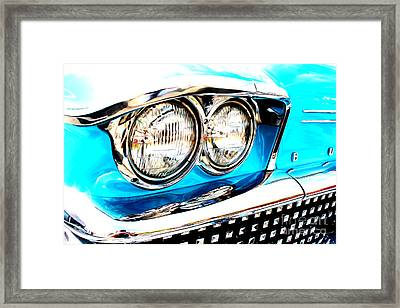 Framed Print featuring the digital art 1958 Buick by Tony Cooper
