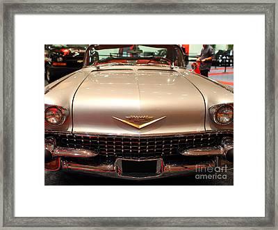 1958 Cadillac Eldorado Biarritz Convertible . Silver . 7d9421 Framed Print by Wingsdomain Art and Photography