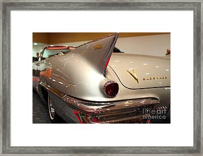 1958 Cadillac Eldorado Biarritz Convertible . Silver . 7d9462 Framed Print by Wingsdomain Art and Photography