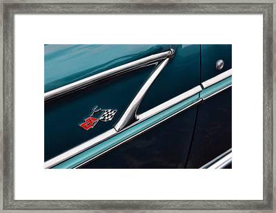 Framed Print featuring the photograph 1958 Chevrolet Bel Air by Gordon Dean II