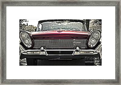 1958 Lincoln Continental Framed Print by Gwyn Newcombe