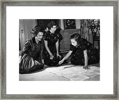 1958 Nixon Family.  From Left  Second Framed Print by Everett
