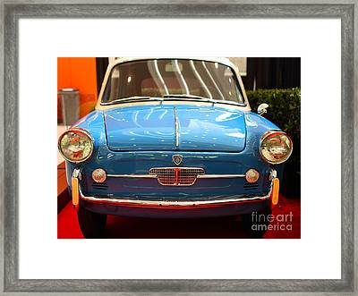 1959 Autobianchi Bianchina Transformabile . Front View Framed Print by Wingsdomain Art and Photography