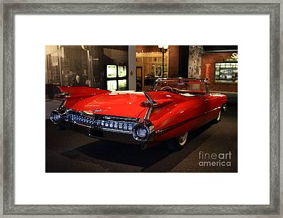 1959 Cadillac Convertible - 7d17376 Framed Print by Wingsdomain Art and Photography