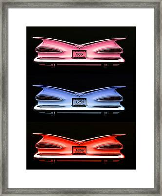 1959 Chevrolet Eyebrow Tail Lights Framed Print by Tim McCullough