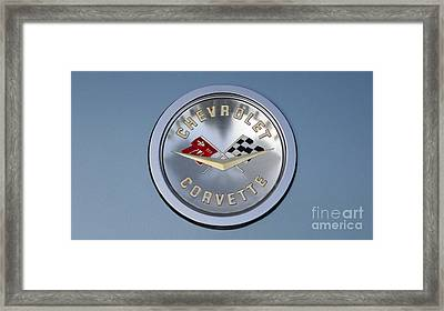 1959 Corvette Emblem Framed Print by Paul Ward