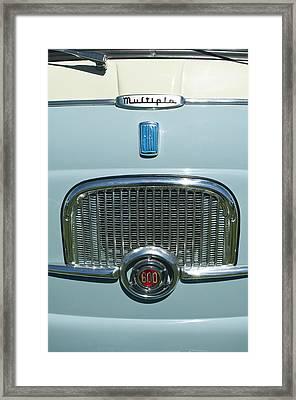 1959 Fiat Multipia Hood Emblem Framed Print by Jill Reger