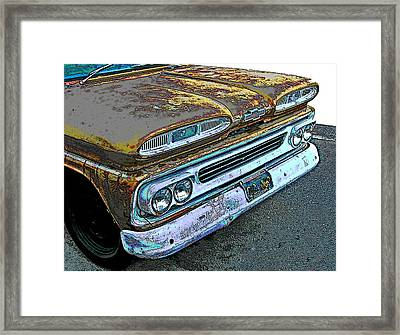 1960 Chevrolet Apache 10 Pickup Truck Framed Print by Samuel Sheats