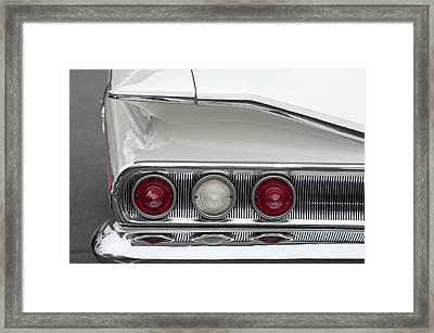 1960 Chevrolet Impala Tail Lights Framed Print by Jill Reger