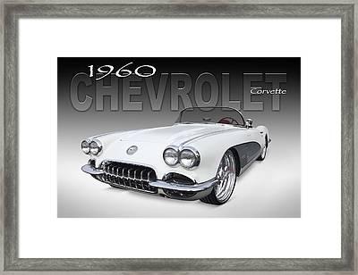 1960 Corvette Framed Print by Mike McGlothlen