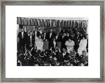 1960 Inaugural Ball. President Kennedy Framed Print by Everett