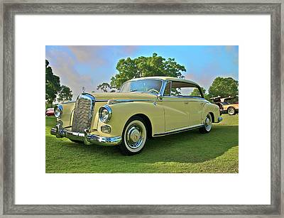 1960 Mercedes 300 Hardtop Sedan Framed Print by Mike  Capone